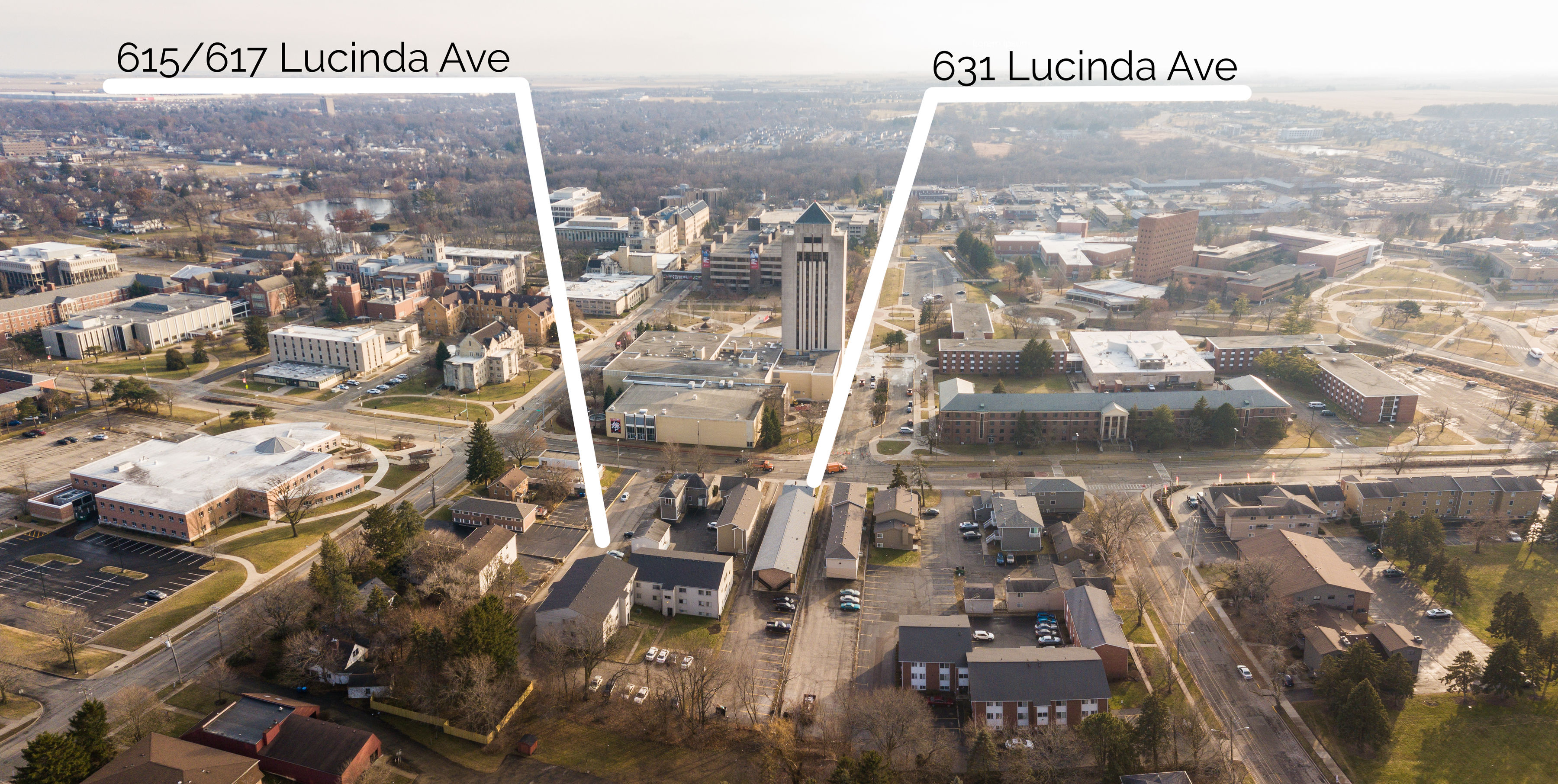 615 & 617 Lucinda Oaks Apartments, Lucinda Ave, DeKalb, IL 60115 (On Campus Housing)